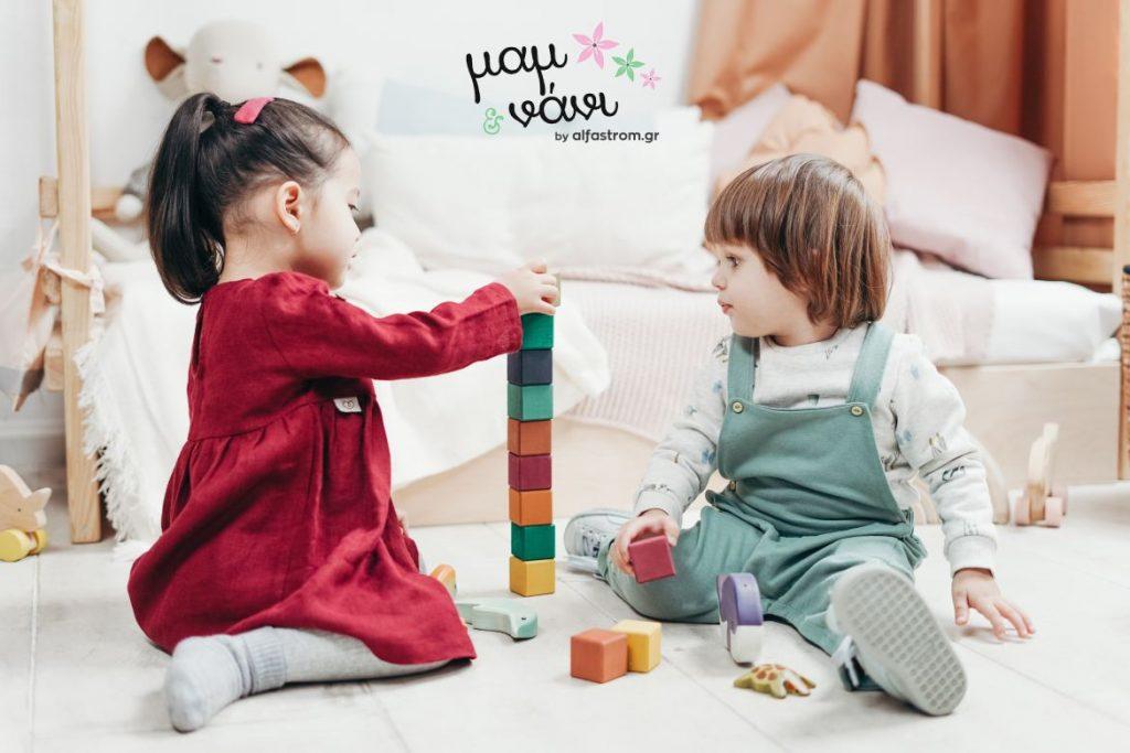 ξύλινα παιχνίδια οφέλη γιατί να τα επιλέξετε mam και Nani